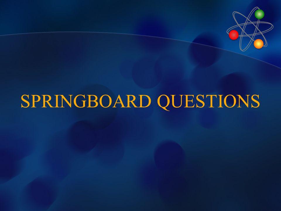 SPRINGBOARD QUESTIONS