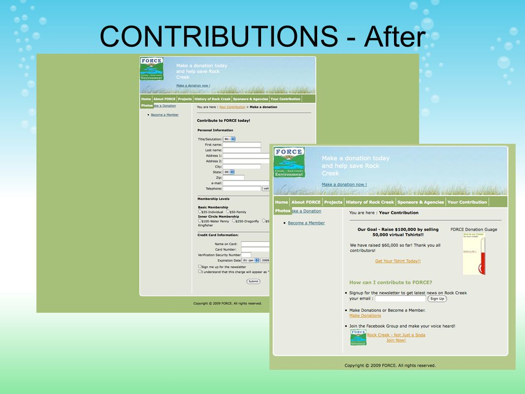 CONTRIBUTIONS - After