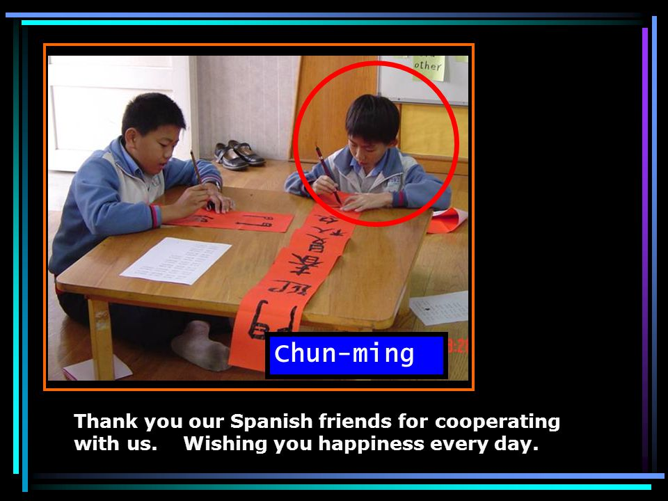  Thank you, dear Spanish teachers & friends.  '          