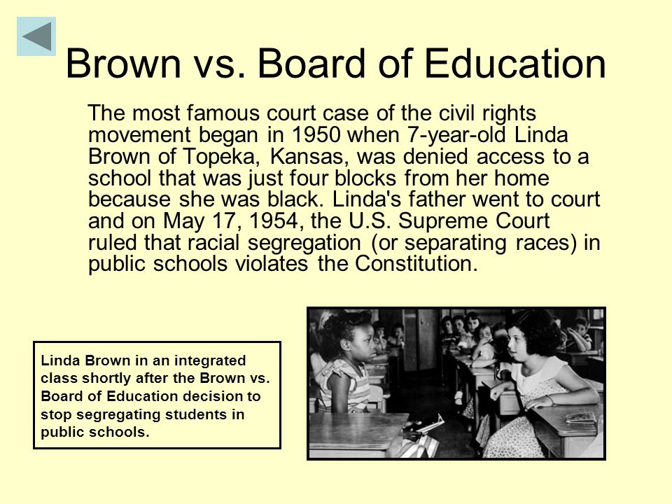 segregation Segregation was the practice of having white students go to white schools and black students go to black schools .