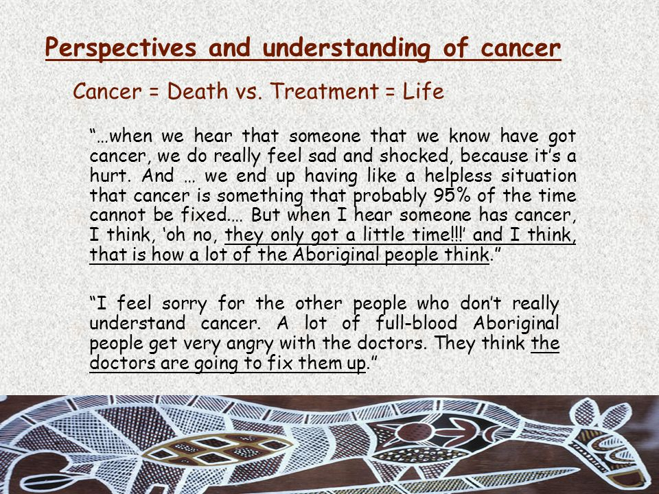Cancer = Death vs.