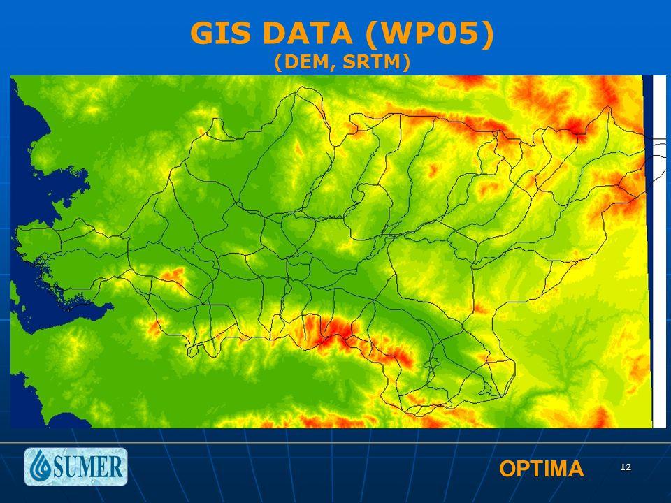 OPTIMA 12 GIS DATA (WP05) (DEM, SRTM)
