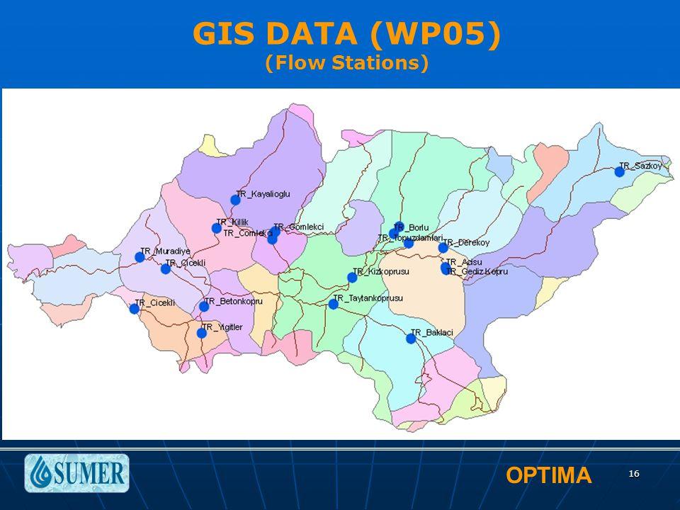 OPTIMA 16 GIS DATA (WP05) (Flow Stations)
