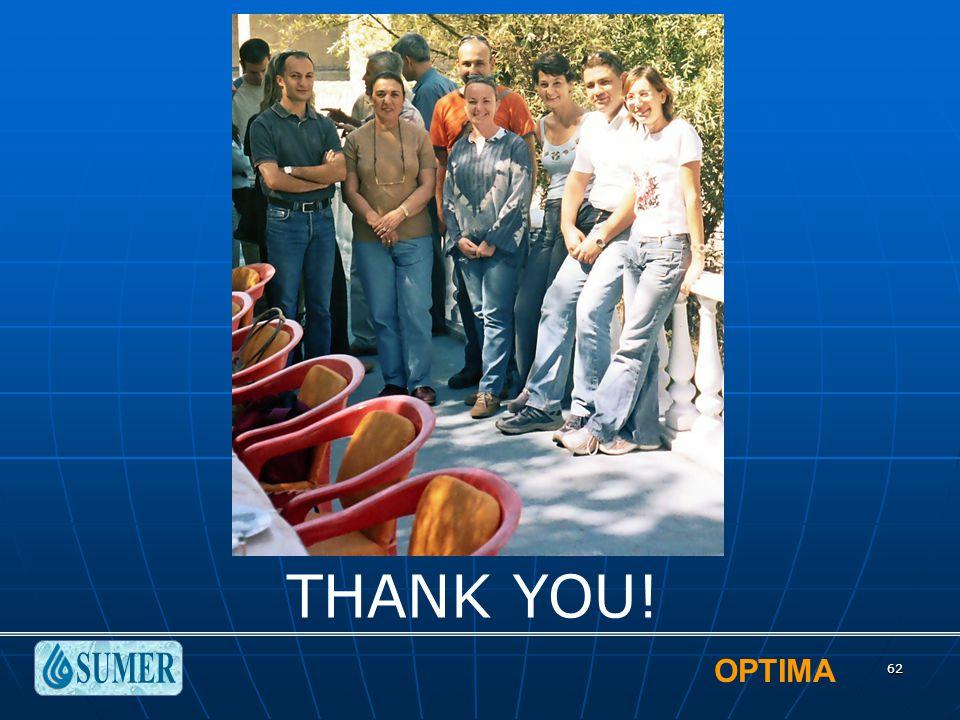 OPTIMA 62 THANK YOU!