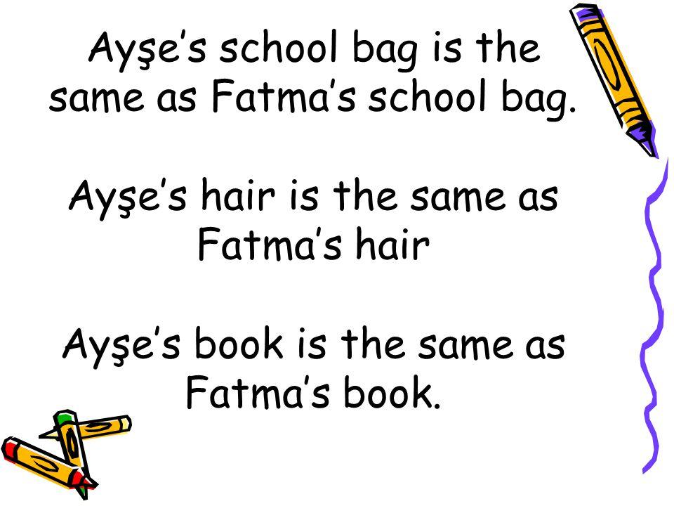 School bag shoes book hair trousers book t-shirt