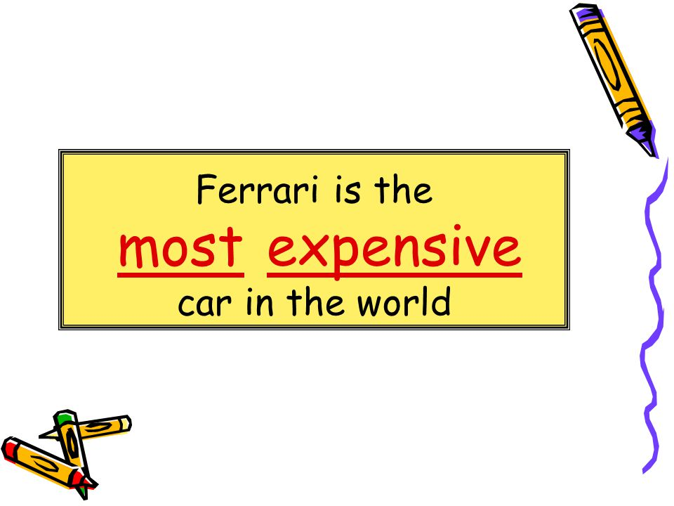 Ferrari is the ……………………car in the world.