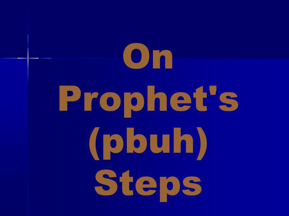 On Prophet's (pbuh) Steps