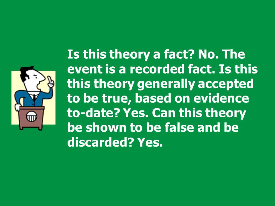 Development of a Simple Theory by the Scientific Method: Observation State a possible answer, called a Hypothesis Perform an experiment or Test Publish your findings Verification Other scientists read about your experiment and try to duplicate it In time, and if experiments continue to support your hypothesis, it becomes a Theory