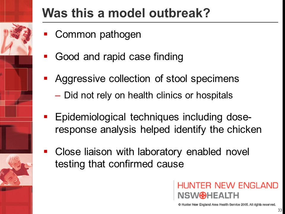 33 Was this a model outbreak.