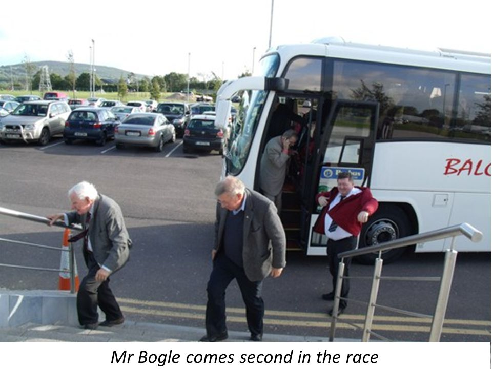 Mr Bogle comes second in the race