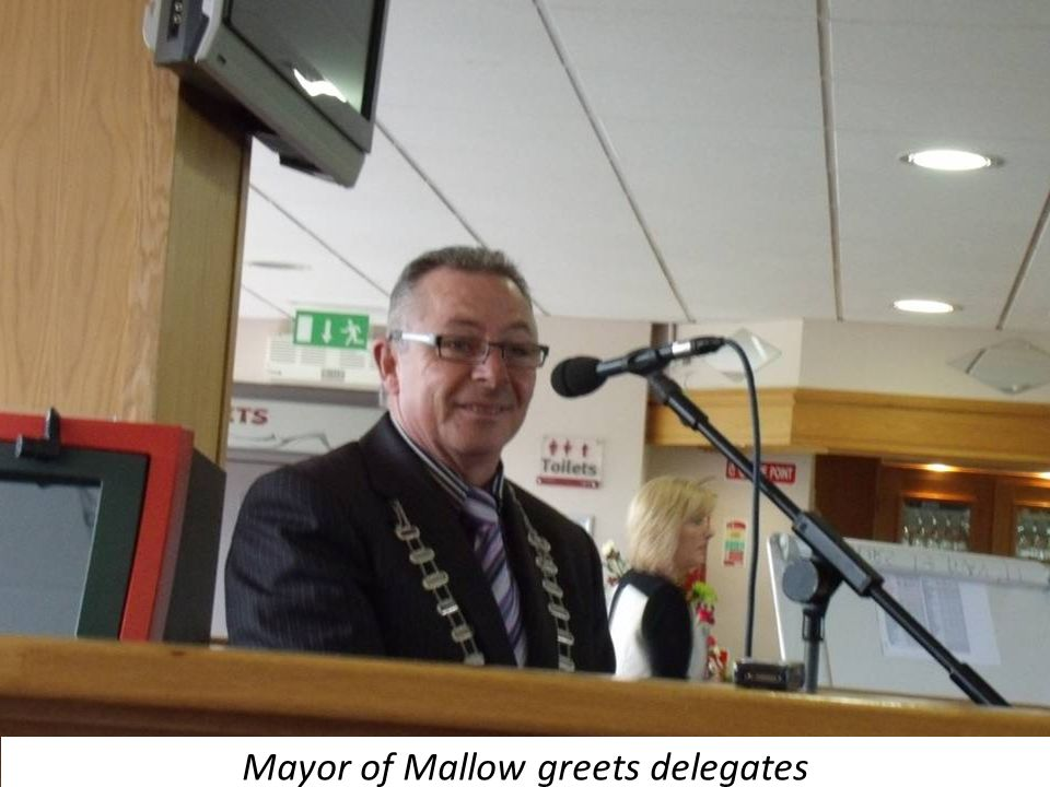 Mayor of Mallow greets delegates