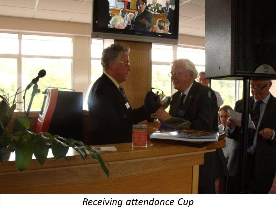 Receiving attendance Cup