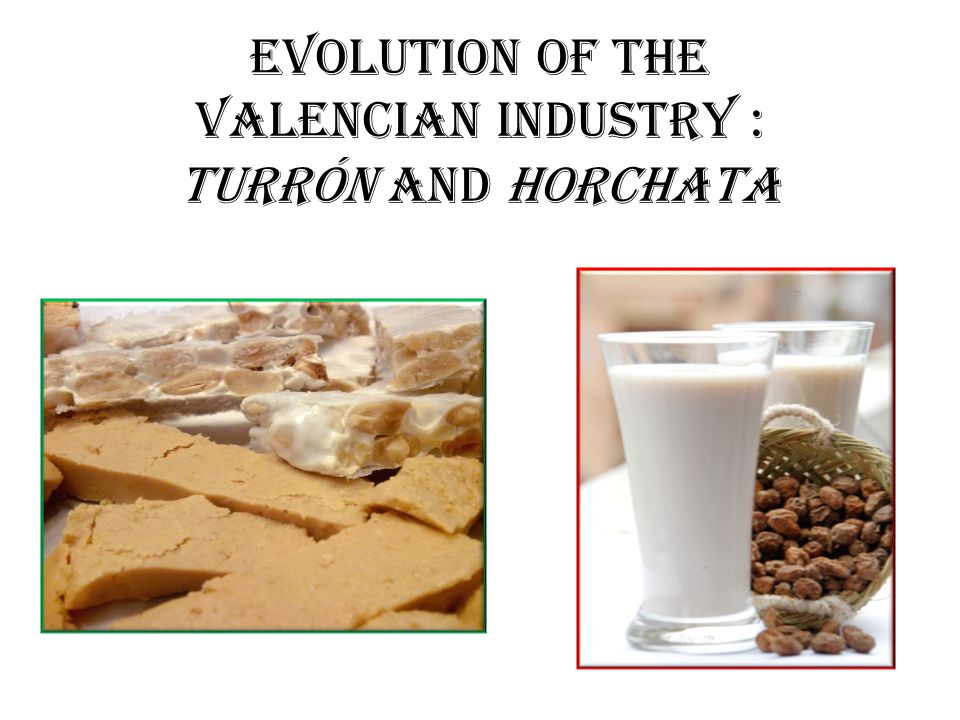 EVOLUTION OF THE VALENCIAN INDUSTRY : TURRÓN AND HORCHATA