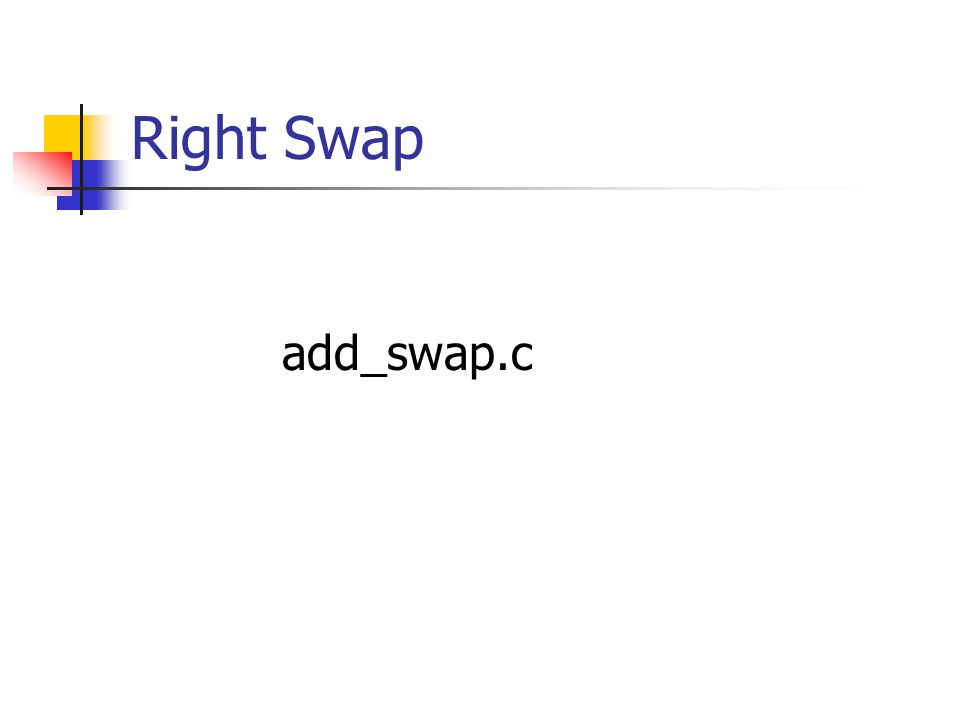 Right Swap add_swap.c