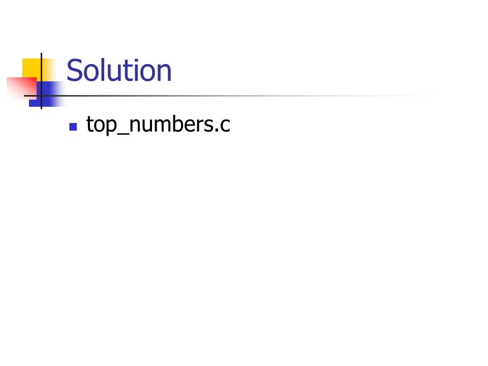 Solution top_numbers.c