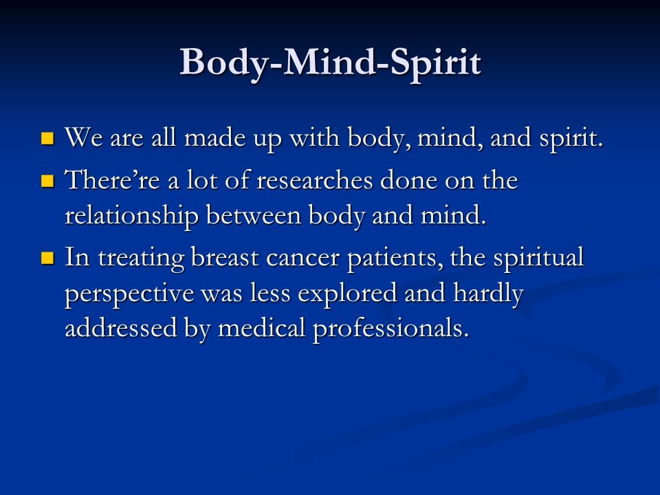 Hearing the body talk Finding spiritual meaning underlying diseases.