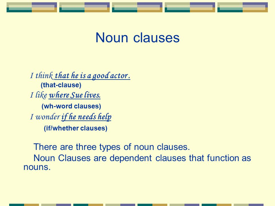 Identifying Noun Clauses Read the following from an organization that promotes peace.