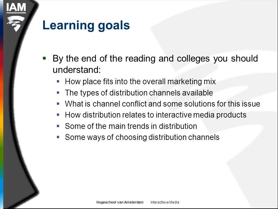 Hogeschool van Amsterdam Interactieve Media Examples of indirect channels
