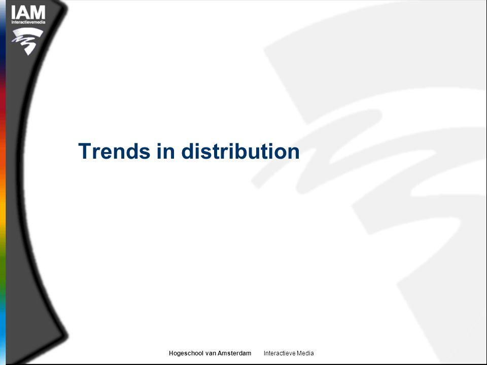 Hogeschool van Amsterdam Interactieve Media Trends in distribution