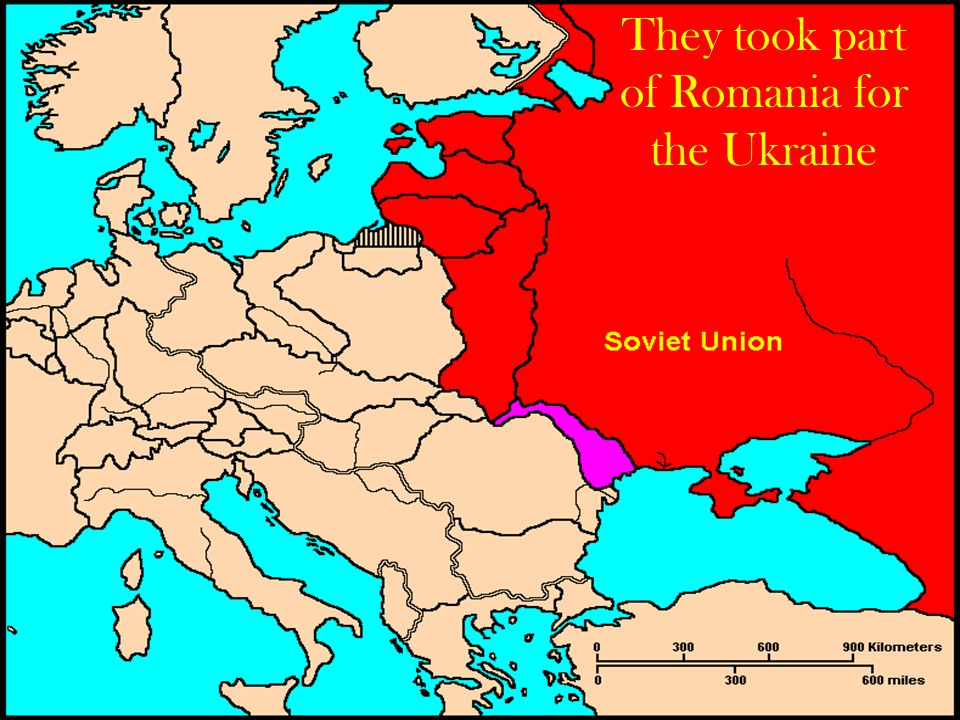They took part of Romania for the Ukraine