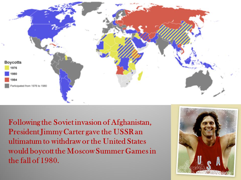 Following the Soviet invasion of Afghanistan, President Jimmy Carter gave the USSR an ultimatum to withdraw or the United States would boycott the Moscow Summer Games in the fall of 1980.