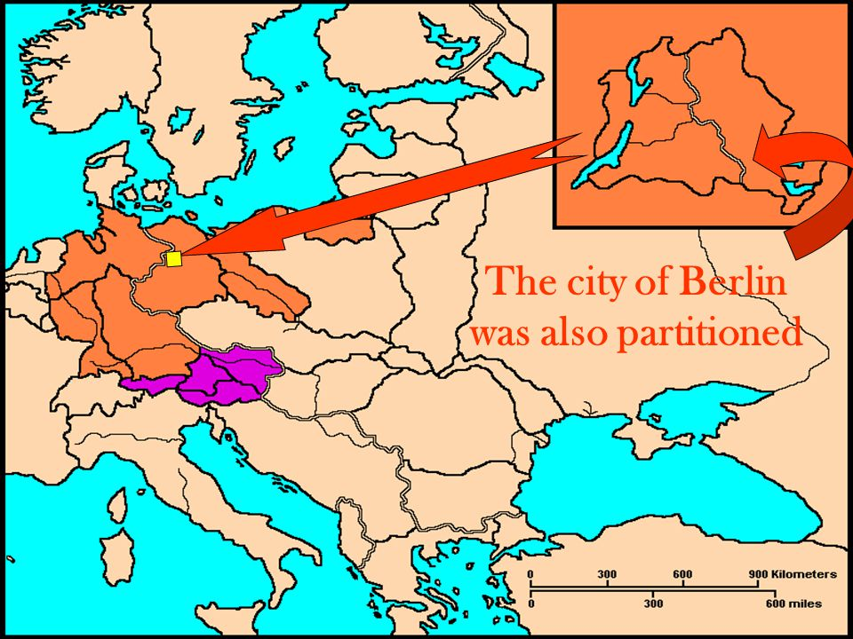 The city of Berlin was also partitioned
