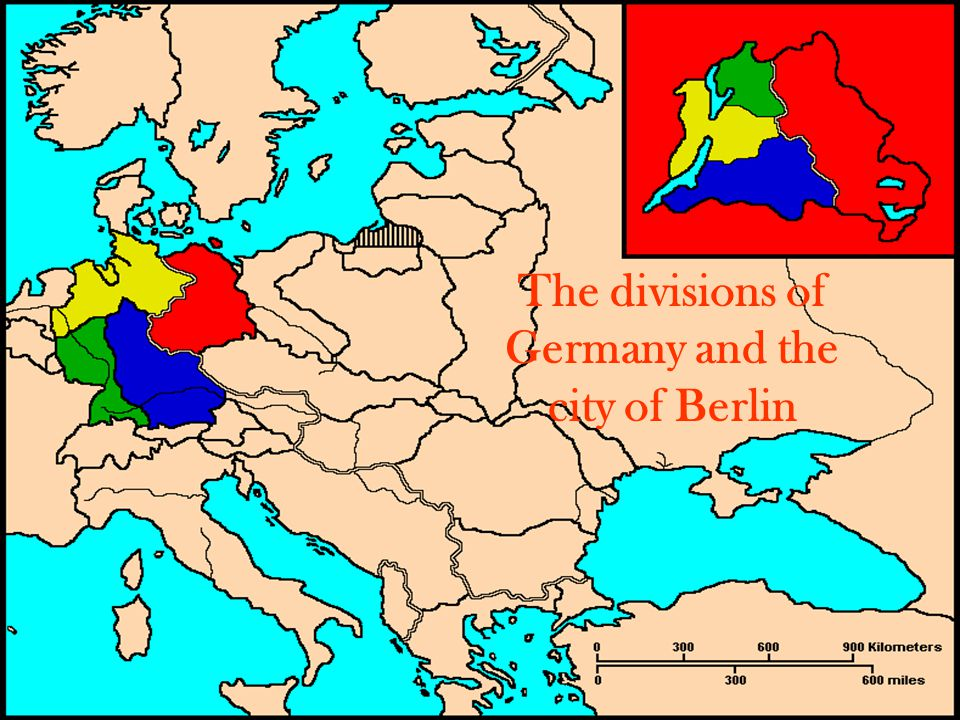 The divisions of Germany and the city of Berlin