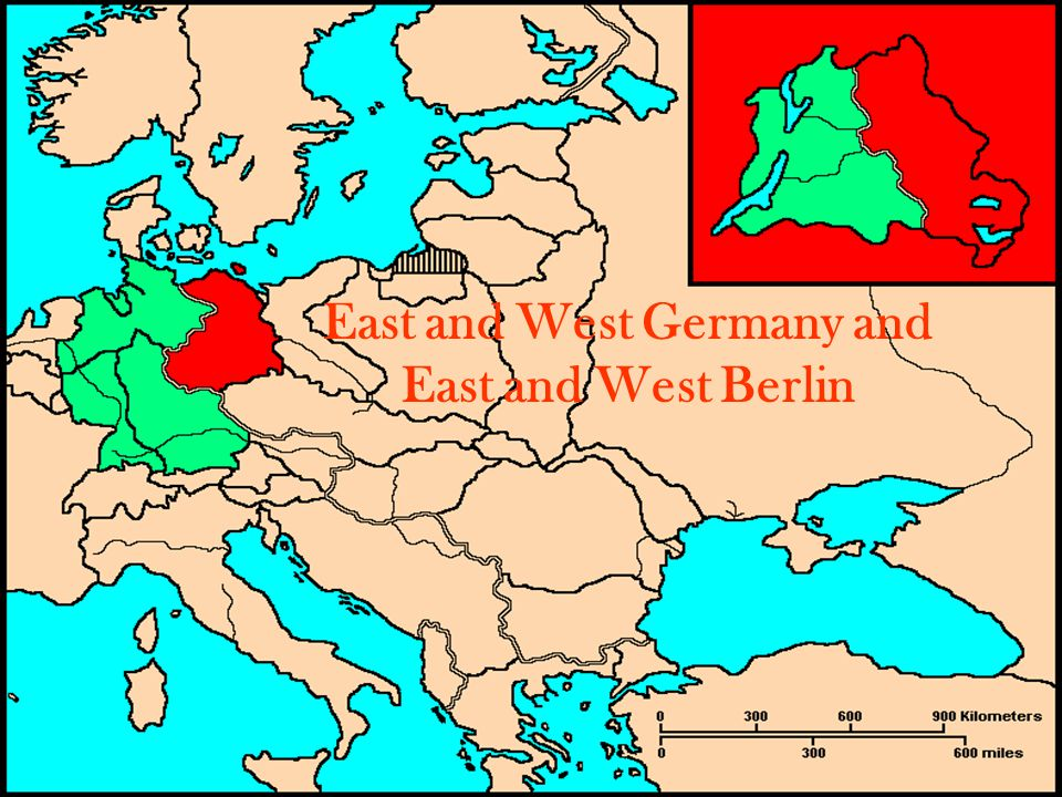 East and West Germany and East and West Berlin