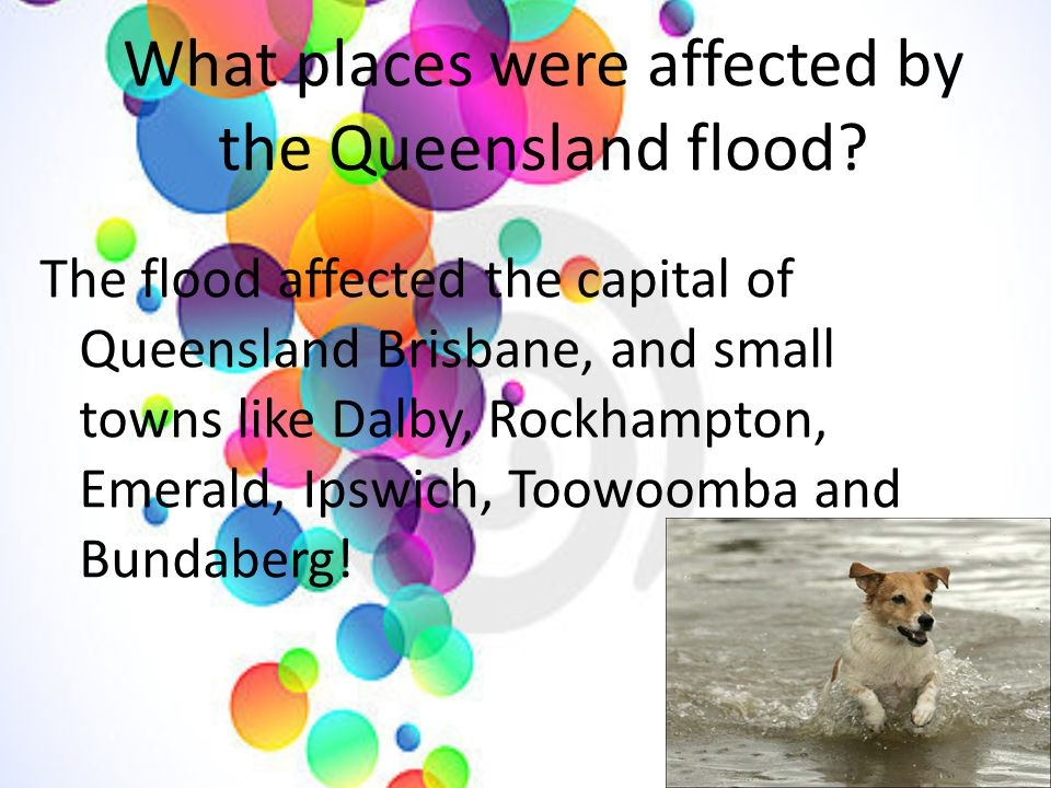 What places were affected by the Queensland flood.