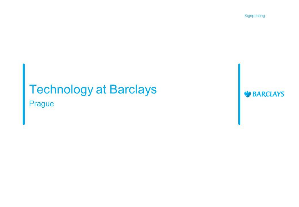 Signposting Technology at Barclays Prague