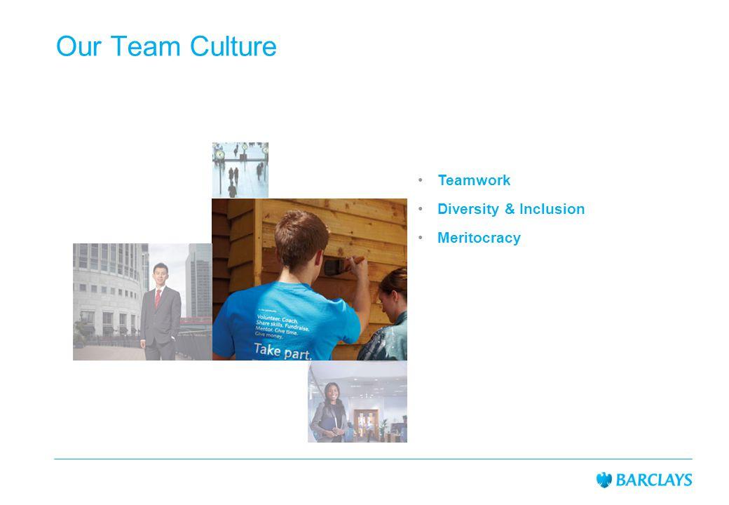 Our Team Culture Teamwork Diversity & Inclusion Meritocracy