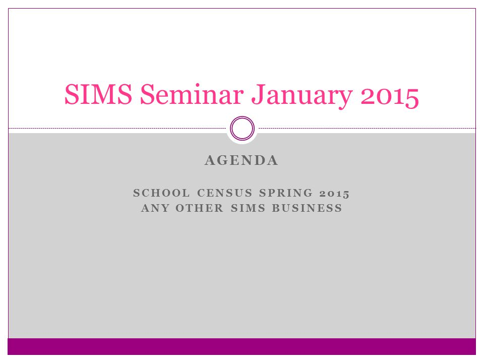 SIMS School Census Spring 2015