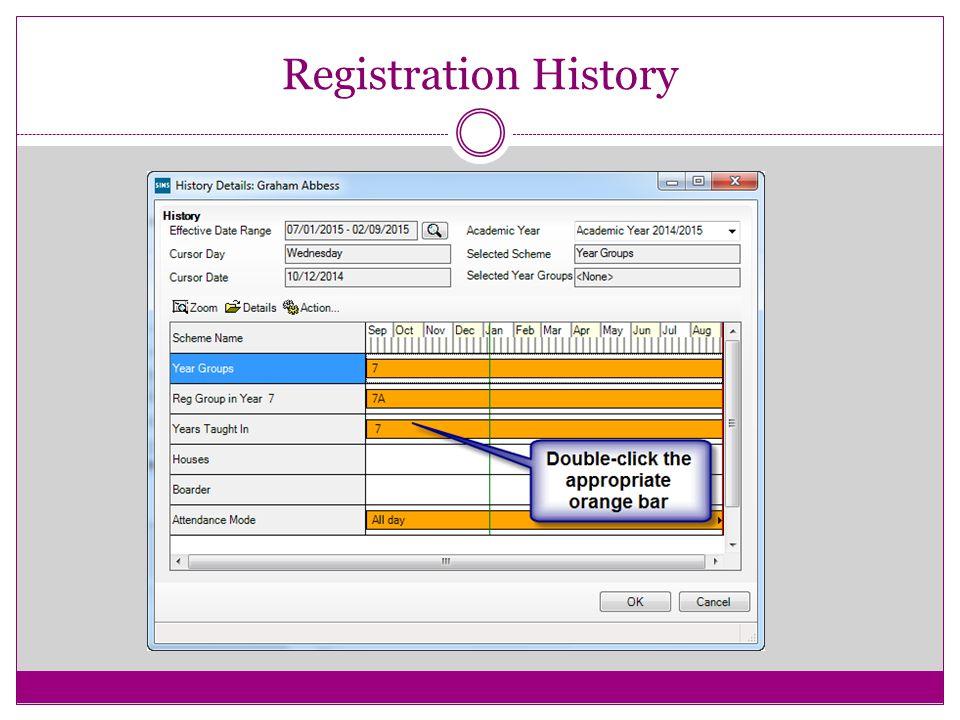 Registration History