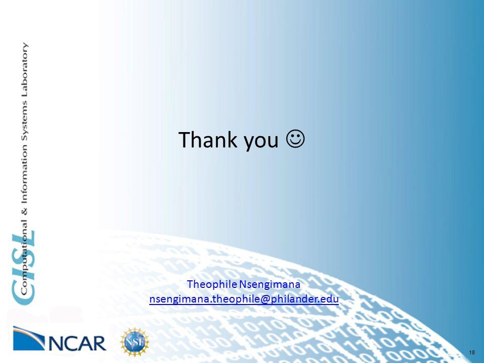 18 Thank you Theophile Nsengimana nsengimana.theophile@philander.edu