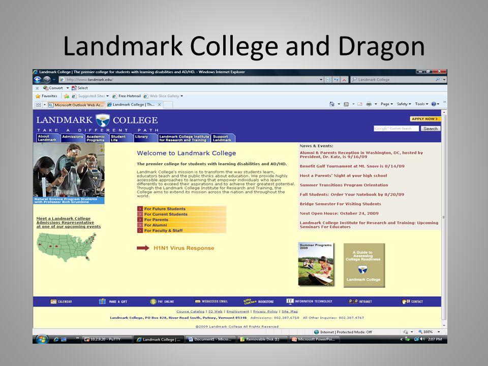 Landmark College and Dragon