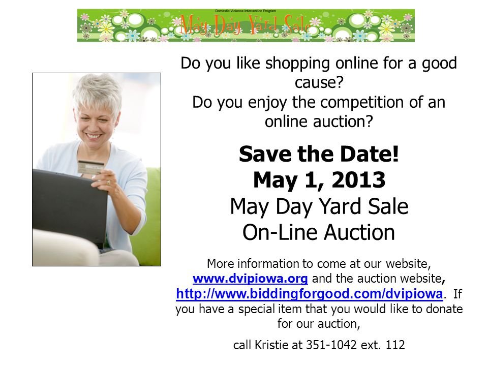 Do you like shopping online for a good cause. Do you enjoy the competition of an online auction.