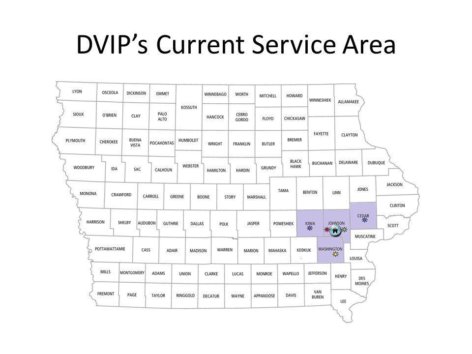 DVIP's Current Service Area