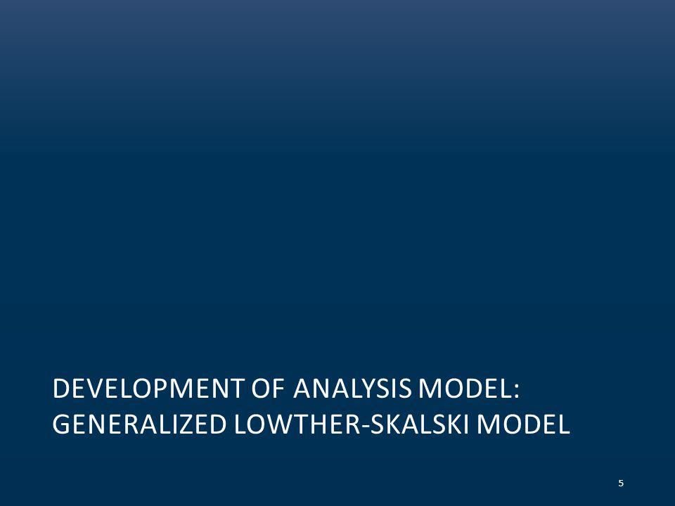 DEVELOPMENT OF ANALYSIS MODEL: GENERALIZED LOWTHER-SKALSKI MODEL 5