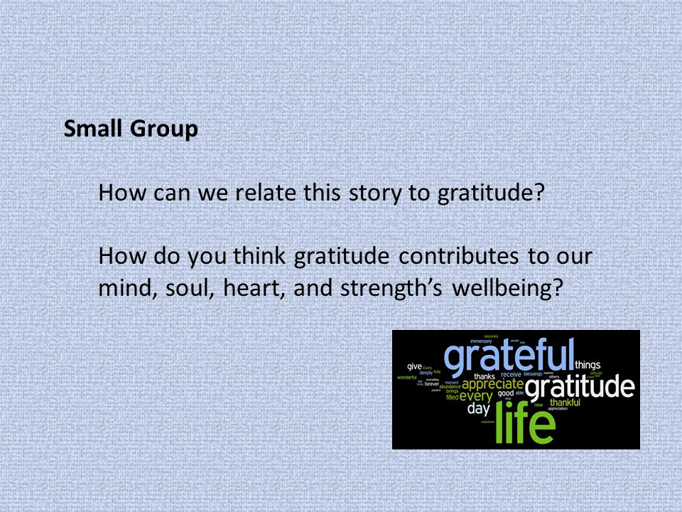 Interviewing one another… For what are you most grateful this year.