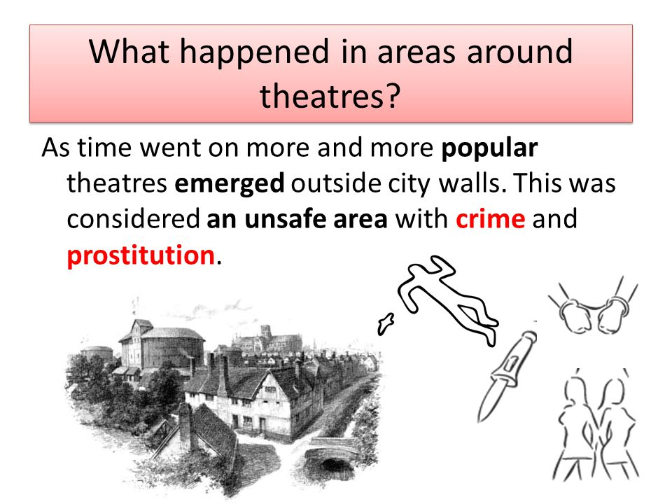 As time went on more and more popular theatres emerged outside city walls.