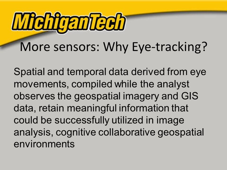 More sensors: Why Eye-tracking.