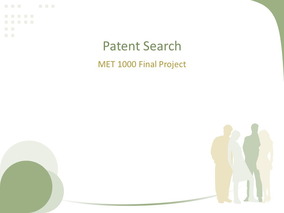 Patent Search MET 1000 Final Project