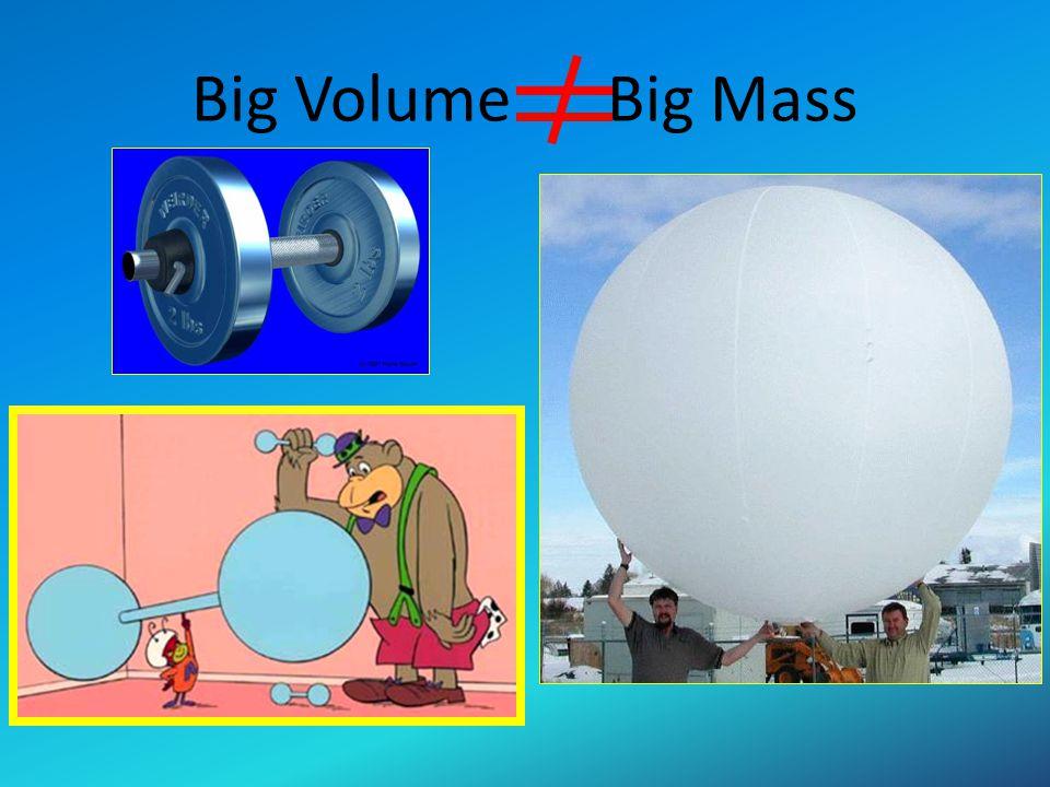 Big Volume Big Mass