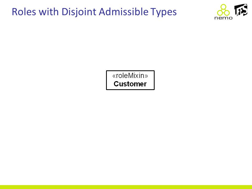 Roles with Disjoint Admissible Types