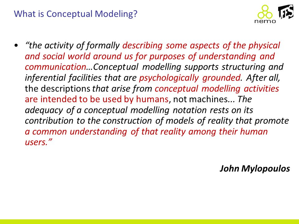 What is Conceptual Modeling.