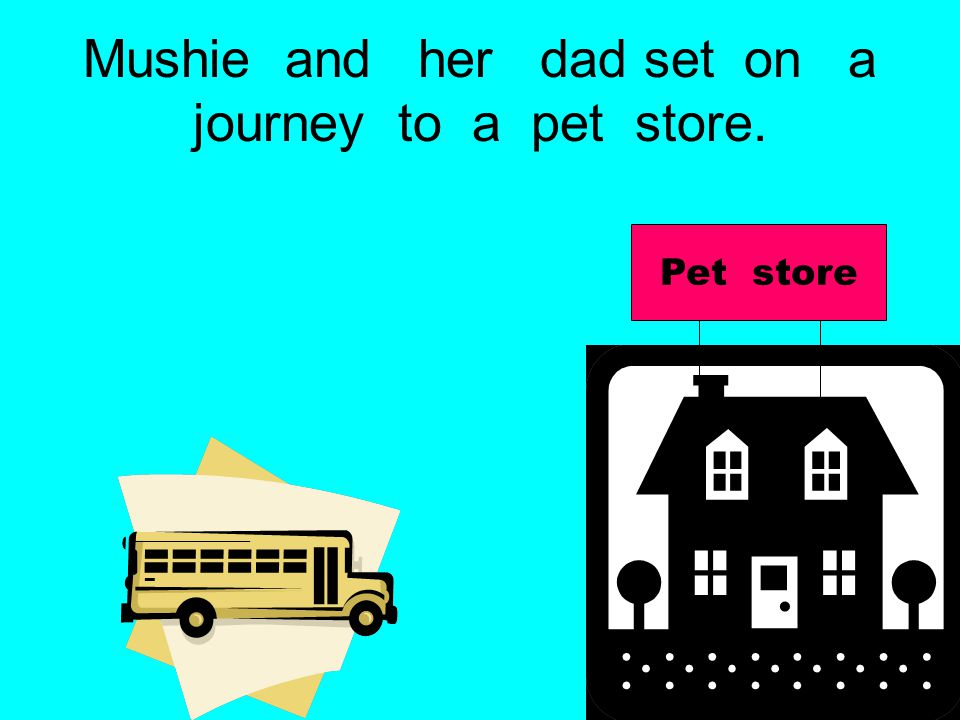 Mushie and her dad set on a journey to a pet store. Pet store