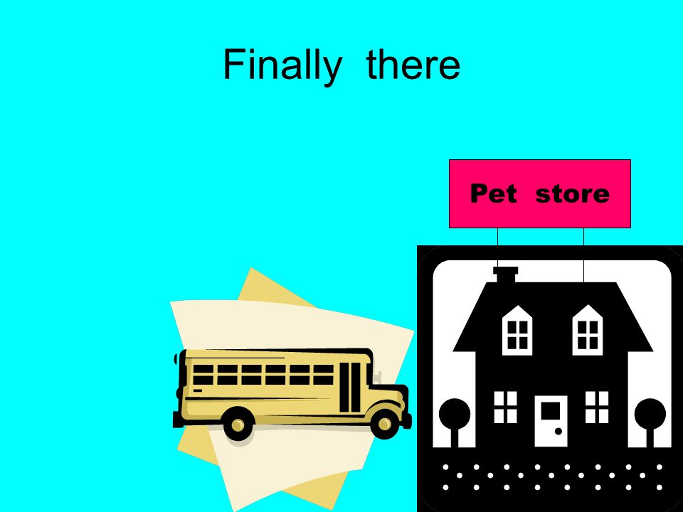 Finally there Pet store