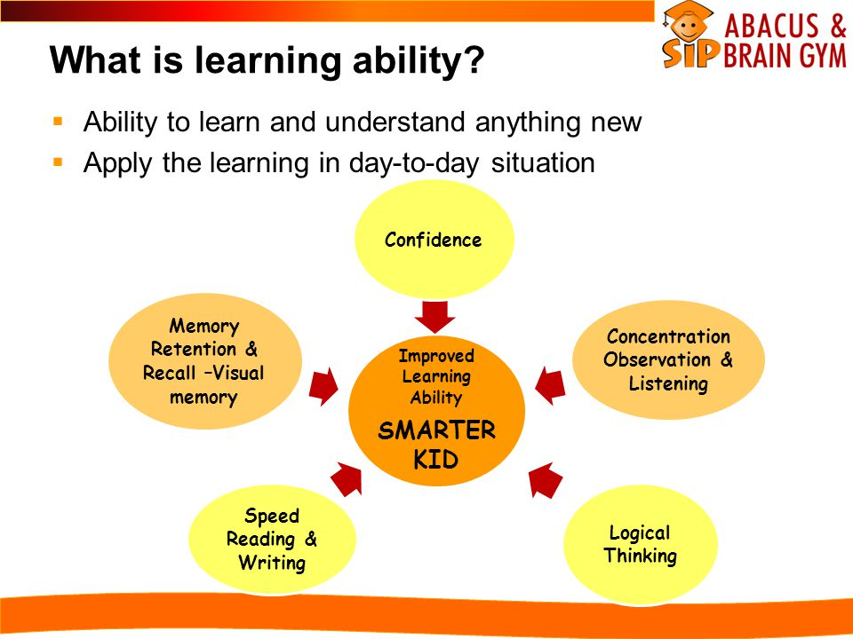 What is learning ability.