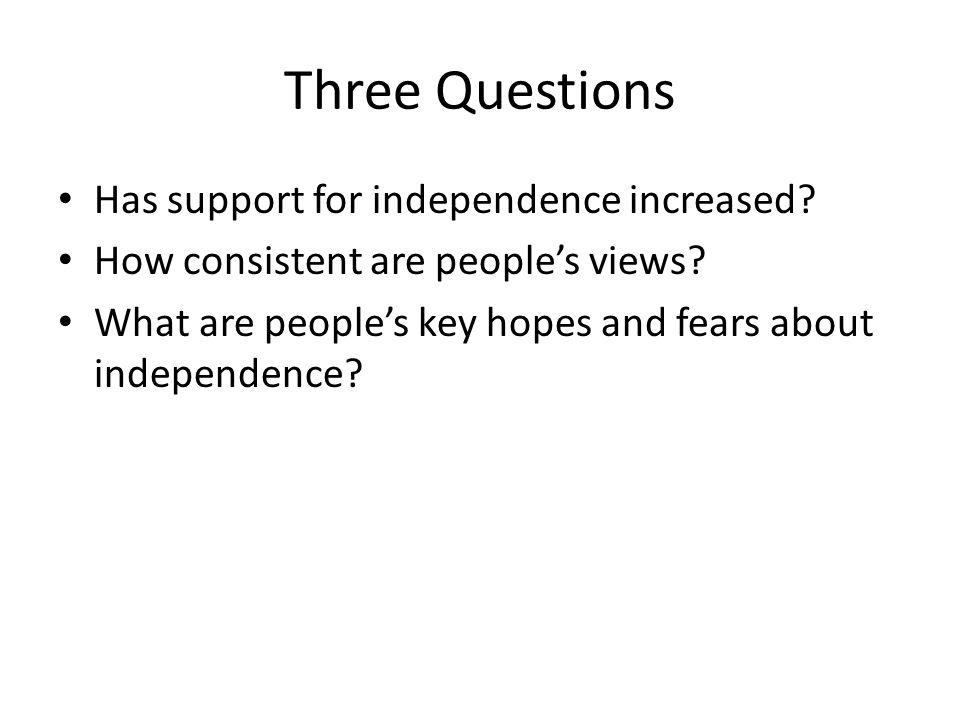 A Much Asked Question Which of these statements comes closest to your view.