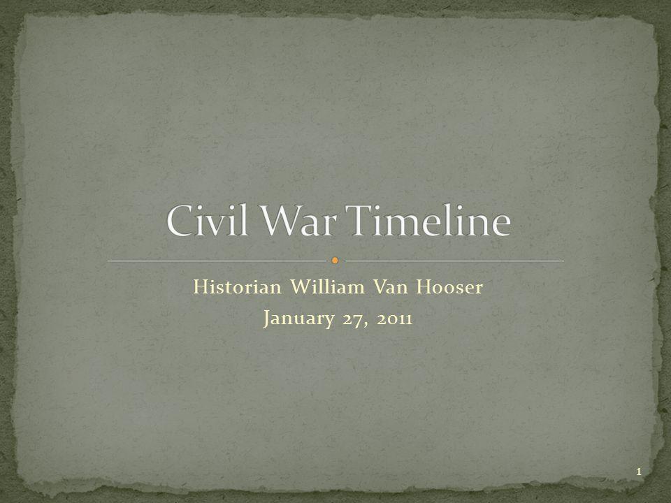 Historian William Van Hooser January 27, 2011 1